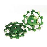 Ролики заднего переключателя зеленые