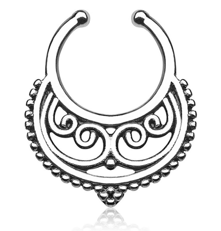 Серьга-обманка в нос Пектораль Серебро