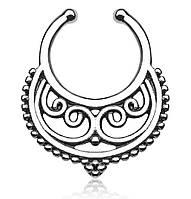Серьга-обманка в нос Пектораль Серебро, фото 1