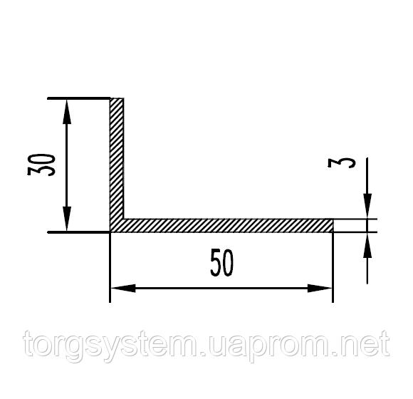 Алюминиевый уголок 50х50х3  без покрытия