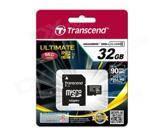 Карта памяти Transcend 32GB microSDHC C10 UHS-I R90MB/s + SD адаптер (TS32GUSDHC10U1)