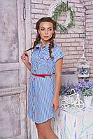Хлопковое летнее платье-халат Изабелла 33 Arizzo 44-52 размеры
