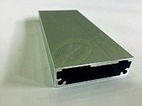 Рамочный профиль под вклейку соединительный, цвет серебро