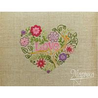 """НКШ-4001 Наборы для вышивания нитками (декоративные швы) Марічка """"Цветочное сердце"""""""