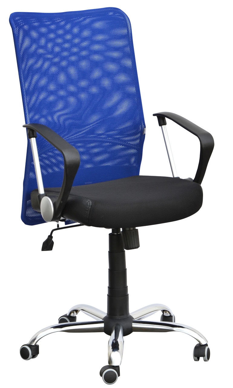Крісло Аеро HB сидіння Сітка чорна, Неаполь N-20, спинка Сітка синя (AMF-ТМ)