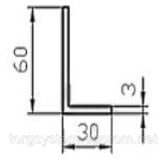 Алюминиевый уголок 60х30х3 без покрытия