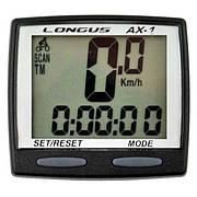 Велокомпьютер Longus AX-1, 8-ф черный Special Edition