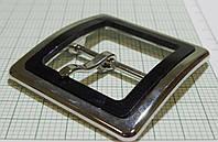 Пряжка (квадрат) металл (Италия) (отполированный, черный+никель)