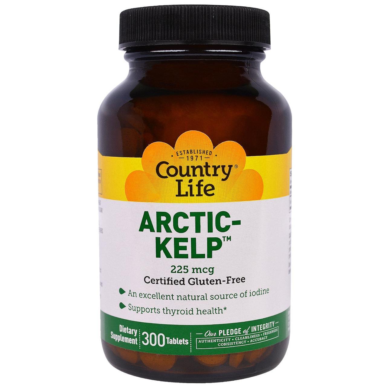 Источник йода Arctic Kelp (300 табл.) Country Life