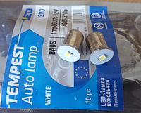 Лампа цоколь габарит, посветка панели приборов BA7s 1SMD   12V WHITE