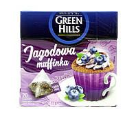 Чай черный со вкусом черничного маффина Green Hills, 20 пакетиков