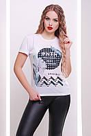 Женская классическая белая футболка с оригинальным рисунком Special