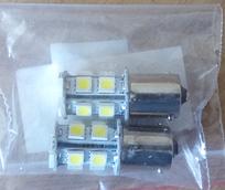 Лампа цоколь габарит, стоп, поворот, подсветка салона (номера) S25 (12SMD) BA15S 12V WHITE