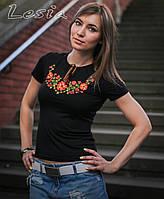 Жіноча вишиванка Фіалка оранж