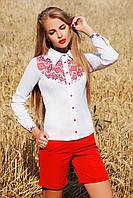 Белая блузка вышиванка с украинским принтом Узор К3 блуза Марта 2Н д/р