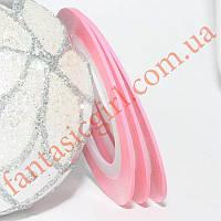 Скотч для манікюру, ніжно - рожевий