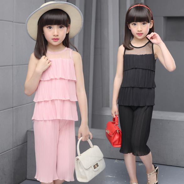 246373e48ff3b6 Стильний комплект на літо, капрі та футболка для дівчаток - Інтернет-магазин  дитячого та