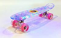 Скейтборд Penny Lumnous Led 22in прозрачн. светящ. SK-5357