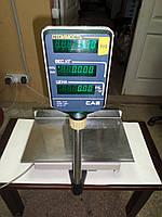 Торговые весы б/у, весы электронные CAS AP-15M до 15 кг, весы на 15 кг, настольные электронные торговые весы., фото 1