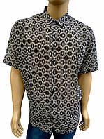 Стильная рубашка из натуральной ткани с коротким рукавом, фото 1