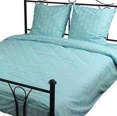 Комплект постельного белья полуторный РУНО 143х215 Бязь плотность 136гр/м.кв (1.114Б_Блакитний )