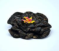 Цветок из ткани брошка заколка для волос Жемчужина
