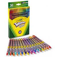 Детские цветные карандаши с выкручивающимся стержнем Twistables 30 цветов, Crayola крайола, фото 1