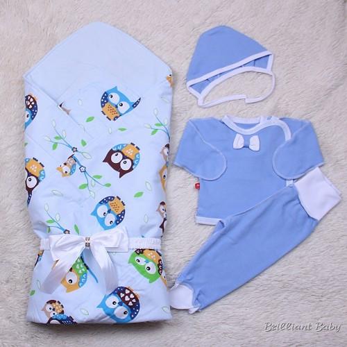 Летний набор Valleri (совы)+Малыш (голубой)