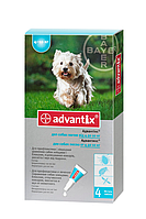 BAYER Advantix Адвантикс для собак вес 4-10 кг 1пипетка 1мл