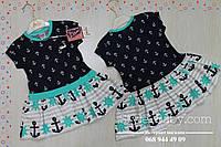 Детское летнее платье для девочки Якорь размер 2,3,4,5 лет