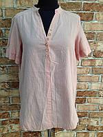 Женская хлопковая рубашка в трёх цветах опт