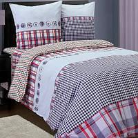 Комплект постельного белья полуторный РУНО 143х215 Бязь плотность 125гр/м.кв (1.114БК_4714 Данко)