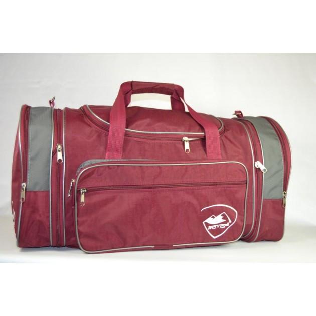Дорожная спортивная сумка раздвижная в бордовом цвете