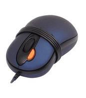 Мышь A4Tech X5-6AK-1 2xClick USBmini mouse/Синяя с черными вставками, 800dpi dual focus