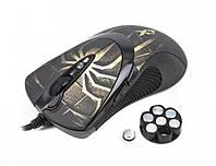 Мышь A4Tech XL-747H USB(Паук-brown, mouse Black)  X7 3600dpi Full speed Gaming mouse Oscar