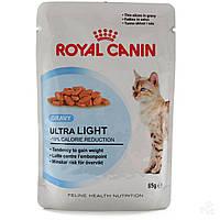 ROYAL CANIN ULTRA LIGHT В СОУСЕ консервированный корм для кошек склонных к полноте 0,085КГ