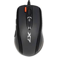 Мышь A4Tech XL-750BK USB Full speed Laser Game Oscar mouse, цвет:Черный, кнопка тройного выстрела! 800-1200-1600-2000-3600dpi, 6-but.Cветовая