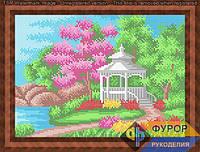 Схема для вышивки бисером - Беседка в саду у реки, Арт. ПБп4-27