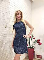 Женское платье джинсовое летнее короткое Opium
