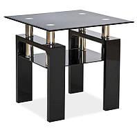 Журнальный столик Lisa D стеклянный  SIGNAL (6 цветов)