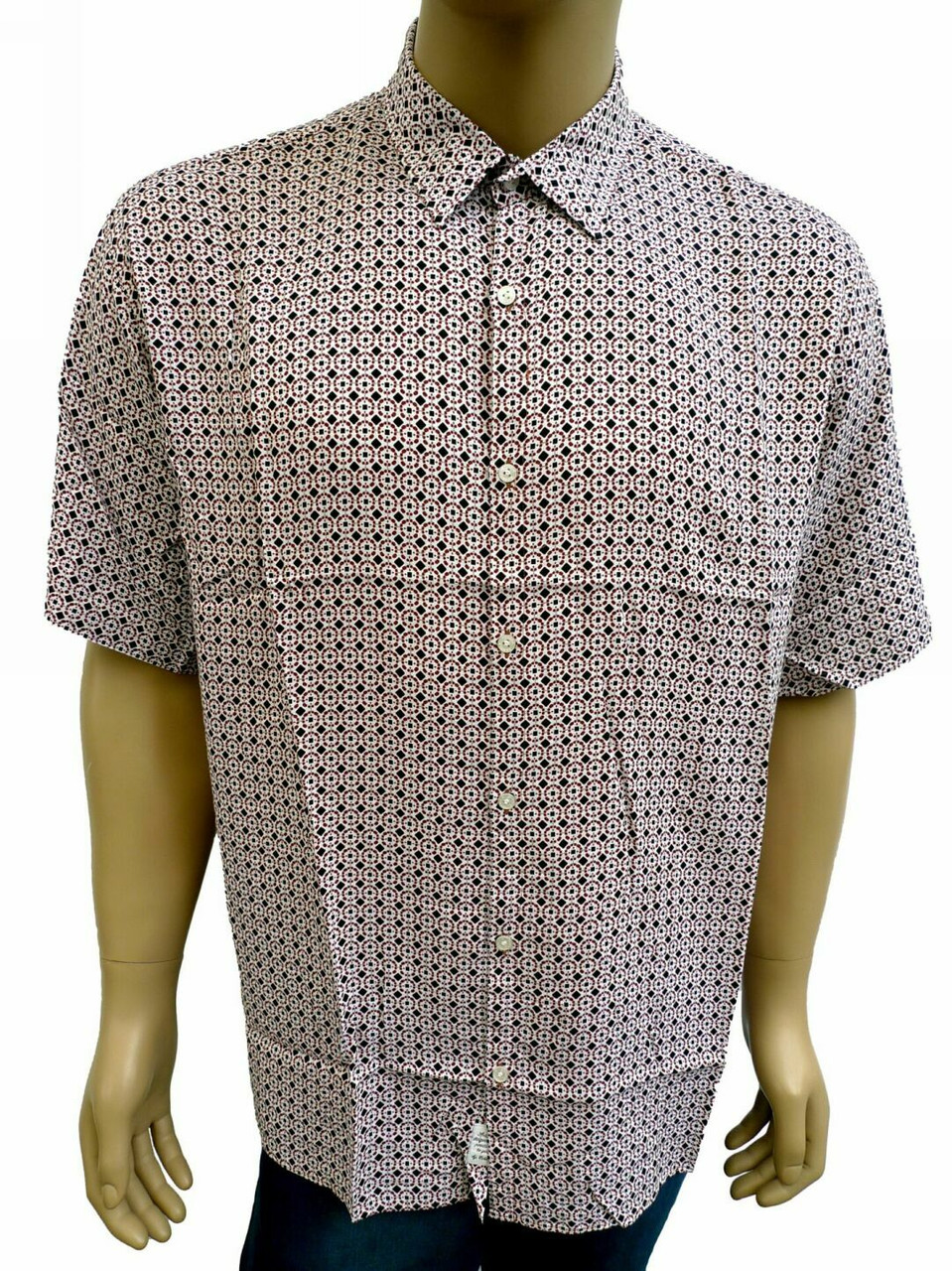 рубашка мужская хлопковая прямая