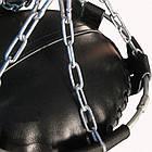 Боксерський мішок SPURT (130х40) шкіра 2,2-3,0 мм Чорний, фото 3