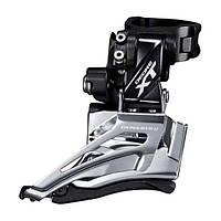 Переключатель передний Shimano DEORE XT, FD-M8025-H, 2X11 HIGH CLAMP, DOWN-SWING, универсальная тяга, 34,9/31,8мм адаптер