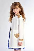 Стильный кардиган для девочек с пайетками