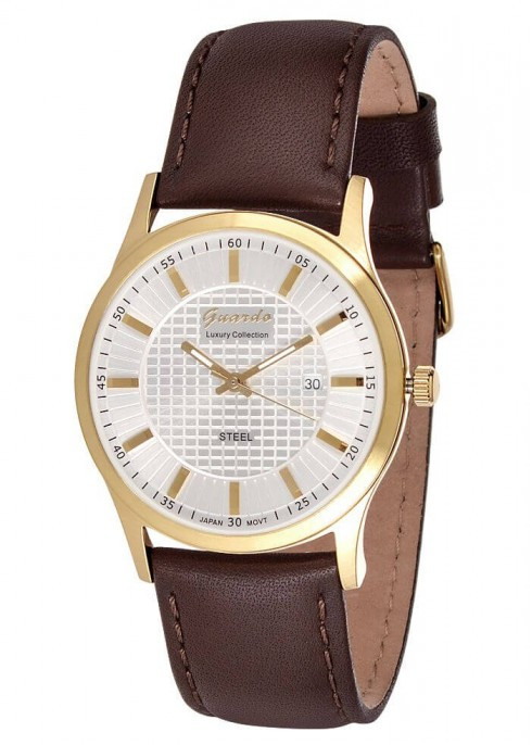 Чоловічі наручні годинники Guardo S01524 GWBr