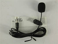 Микрофон на прищепке YW-001, Black, Blister