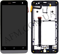 Дисплей (LCD) Asus ZenFone 5 (A500CG/  A500KL/  A501CG) с сенсором черный + рамка