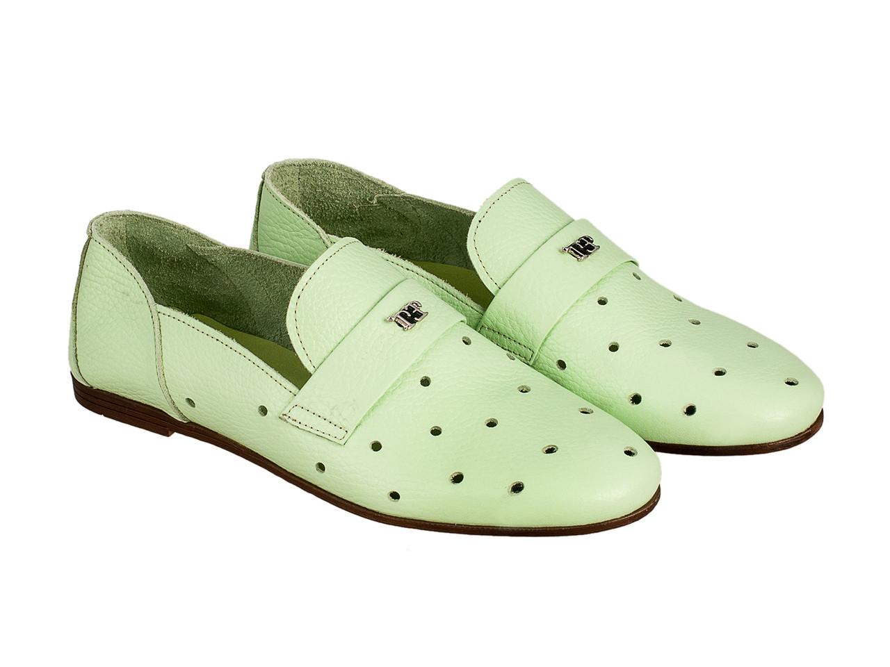 Балетки Etor 6093-7331-4005 36 зеленые