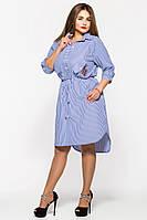 Рубашка платье большого размера Ассоль полоска