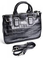 Деловая женская сумка из кожи с тиснением GW-601